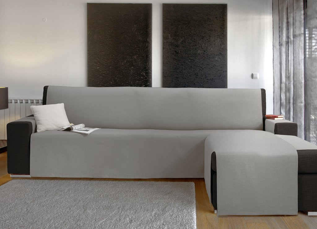 sofabezug mit ottomane chaiselongue via roma 60. Black Bedroom Furniture Sets. Home Design Ideas